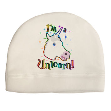 I'm a Unicorn Adult Fleece Beanie Cap Hat