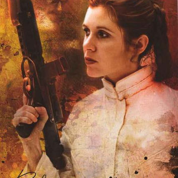 Star Wars Princess Leia Signature Poster 22x34