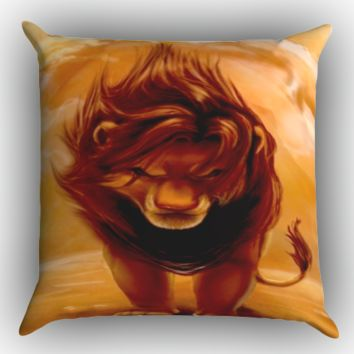 Disney Lion King Z0074 Zippered Pillows  Covers 16x16, 18x18, 20x20 Inches