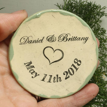 Wedding ring dish/ Personalized ring dish custom pottery jewelry dish Multiple Color Choices