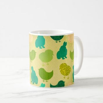 Lemon Lime Easter Chicks Texture Mug