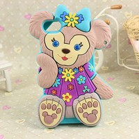 MagicPieces 3D Cute Bear Bear Soft Silicone Case Cover For iPhone 5 006