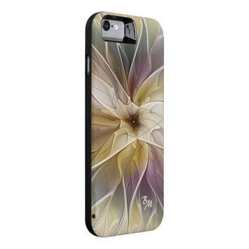 Floral Fantasy Pattern Abstract Fractal Monogram iPhone 6 Case