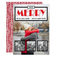 Merry and Modern Holiday Photo Card