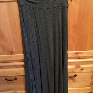 Grey Maxi Skirt (Ark & Co.)