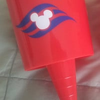 Disney Cruise Beach Cup Holders with DCL Logo - Beachnik - Spiker - FE - Fish Extender Gift