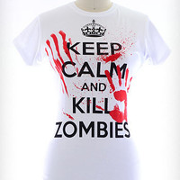 Keep Calm & Kill Zombies Tee
