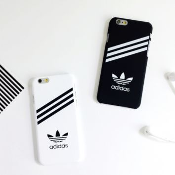 Simple Adidas Print In Black & White Iphone 6 6s Plus & 7 7 Plus Cover Case