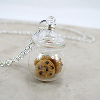 Chocolate Chip Cookie Jar Necklace