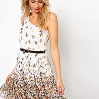 Mango Butterfly One Shoulder Dress