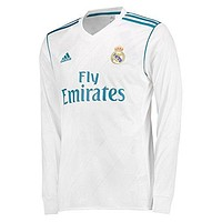 2017-2018 Real Madrid Adidas Home Long Sleeve Shirt