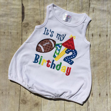 Football 1/2 Birthday Shirt. Football It's My Half Birthday Romper, Its my 1/2 Birthday Romper, Boys Birthday Romper. Football Romper.