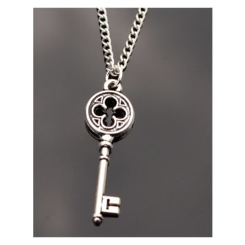 New Exo Love Vintage Silver universal Key Pendant Necklace Collares Bijoux For Women