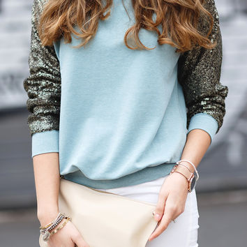 Sparkely Glittery Cozy Sequined Sweatshirt