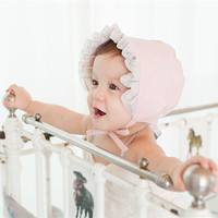 Lace Cotton Breathable Palace Hat Princess Hat for Baby