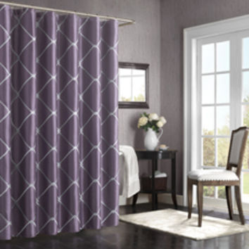 Bombay® Garrison 72-Inch x 72-Inch Shower Curtain - Purple