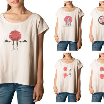 Women's Japan culture 1 Printed cotton T-shirt  Tee WTS_01