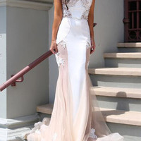 Sweetheart Neckline Lace Mermaid Dress