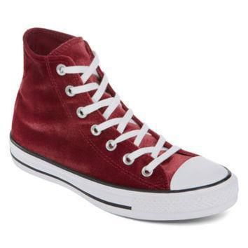 converse chuck taylor all star high top velvet womens sneakers jcpenney