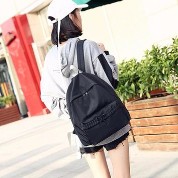 Women Solid Bow Backpack for School Travel School Backpack School bag for Teenage Girls