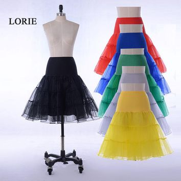Hot Sale Short Petticoat For Wedding A Line Vintage Tulle Petticoat Crinoline Underskirt Rockabilly Swing Tutu Skirt Slip