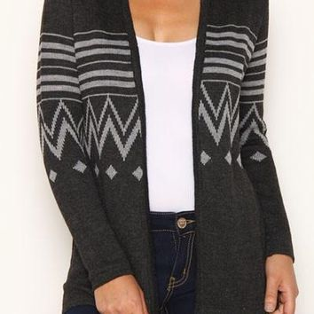 Dark Gray sweater cardigan