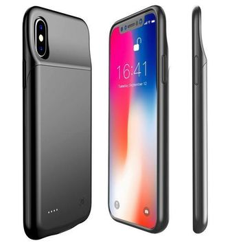 ESBON8C iPhone X Battery Case,Proker 3200mAh Slim External Charger Case Portable Protective Charging Case for iPhone X 5.8inch Extended Battery Pack [Support Lightning Headset](Black)