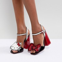Hello Kitty X ASOS Heeled Sandals With Removable Badges at asos.com