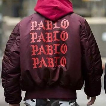 victory689 red street  men clothes brand clothing mens jackets hip hop pablo pilot flight satin ma1 bomber jacket