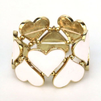 Heart Charms Bracelet - LAST ONE