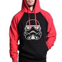 HAMPSON LANQE Star Wars Hipster Men's Hoodies 2017 Hot Autumn Winter Fleece Slim Fit Sweatshirt Men Raglan Hooded Brand Clothing