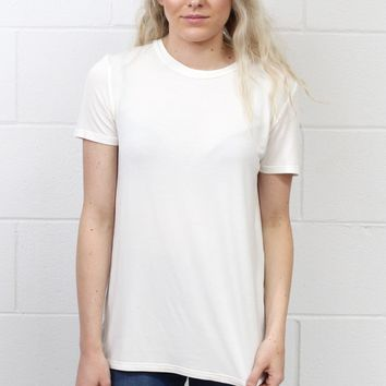 Soft + Basic Short Sleeve Tee {Ivory}