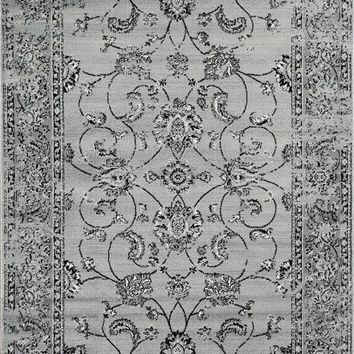 3545 Gray Distressed Oriental Area Rugs