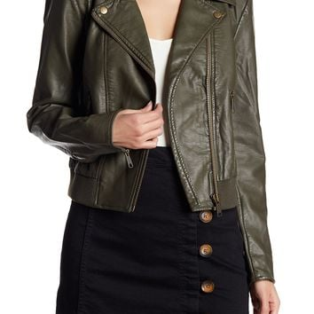 Free People | Modern Faux Leather Bomber Jacket | HauteLook