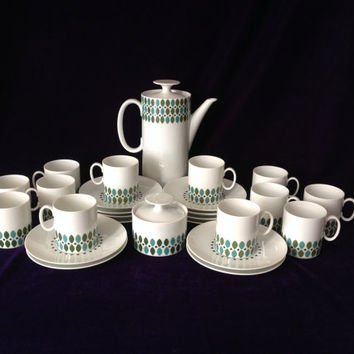 Vintage Mid-Century Mod Demitasse Coffee Set by Rosenthal - Engagement/Wedding/Birthday/Housewarming Gift