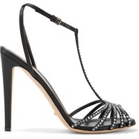 Crystal-embellisjed satin sandals   SERGIO ROSSI   Sale up to 70% off   THE OUTNET