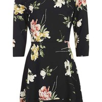 Paint Floral Frill Tea Dress - New In This Week - New In