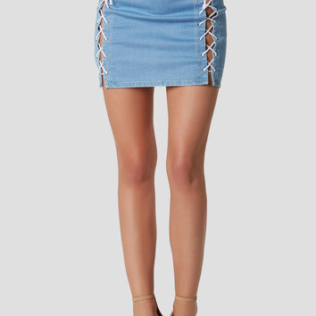 Do Me Up Lace Up Skirt