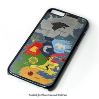 Map Game Of Thrones 1 Design for iPhone and iPod Touch Case