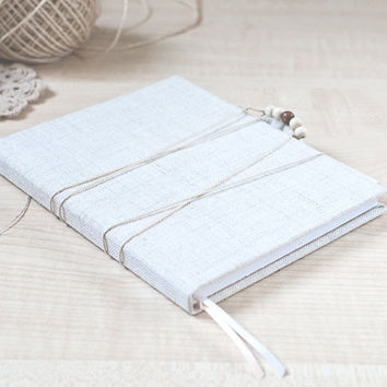 Rustic handmade notebook - Valentines day