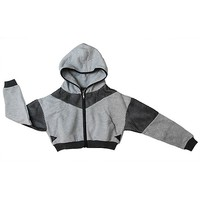 Game On Sporty Crop Hoodie Jacket
