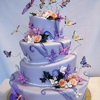 Topsy Turvy Quinceanera Cake by *pinkcakebox on deviantART