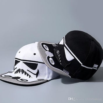 Star Wars Snapback Caps Darth Vader Baseball Caps Stormtrooper Ball Cap Hats Christmas Gift free shipping