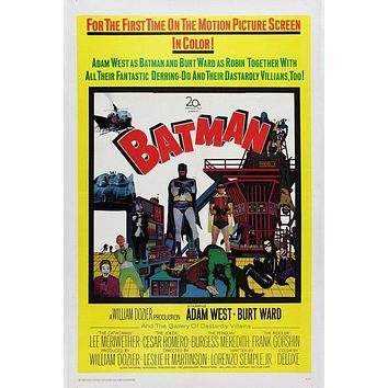 Vintage Batman Movie Poster//Classic Movie Poster/Movie Poster//Poster Reprint//Home Decor//Wall Decor//Vintage Art