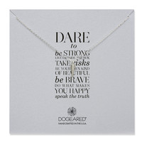dare to… spike necklace, sterling silver, 18 inch - Dogeared