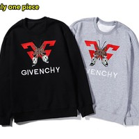Givenchy autumn and winter new cotton embroidery butterfly pattern casual sports sweater
