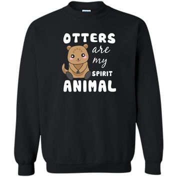 Cute Unique Otter T-shirt Cool Funny Gift Printed Crewneck Pullover Sweatshirt 8 oz