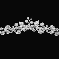 Isabella - Elegant Rhinestone Tiara Comb With Crystal Flowers and Leaves