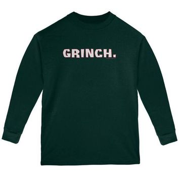 ESBON Christmas Grinch Youth Long Sleeve T Shirt