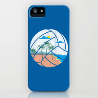 Beach Volleyball iPhone & iPod Case by Erik Sandi Satresa